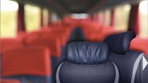 顧客事例 EvoBus - バスの旅をより快適にする座席ヘッドレスト [トルクヒンジ]